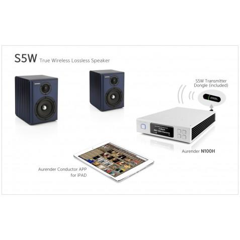 Aurender S5W Enceinte bibliothèque autonome et sans fil