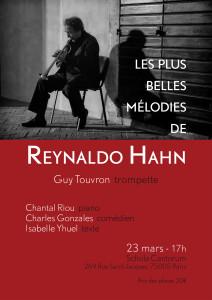 2 concerts à Paris: Reynaldo Hahn le dimanche 23 mars, et Félicien David le mardi 25 mars 2014