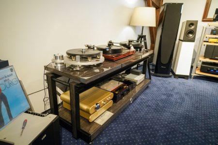 Franc Audio Wood Rack, Somptueusement Elégant.